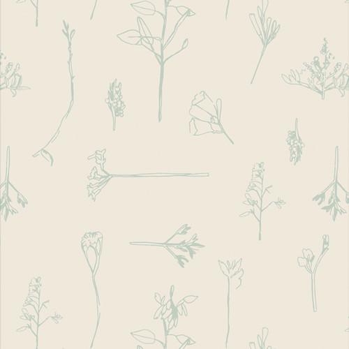 Sonic Flora Vert - Vert Fusion - AGF Studio - Art Gallery Fabrics