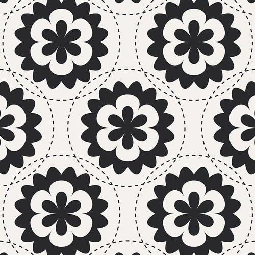 Art Gallery Fabrics - Fractal Garland Black - Geometric Bliss Collection - By Jeni Baker