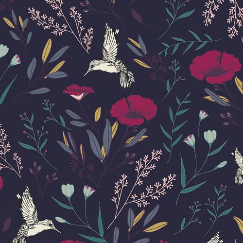 Magical Fauna Mystique - Mystical Land - Maureen Cracknell  - Art Gallery Fabrics