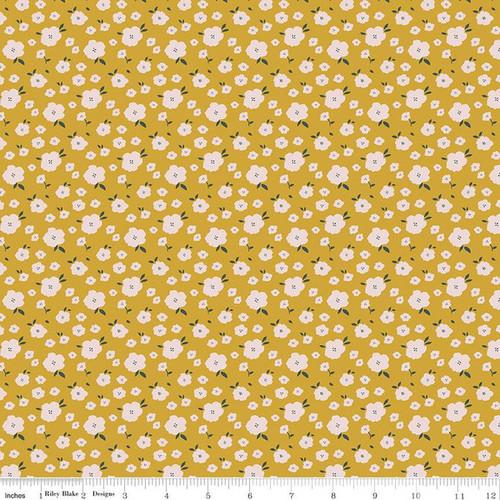 Blooms Butterscotch - Hidden Cottage - Minki Kim - Riley Blake Fabrics