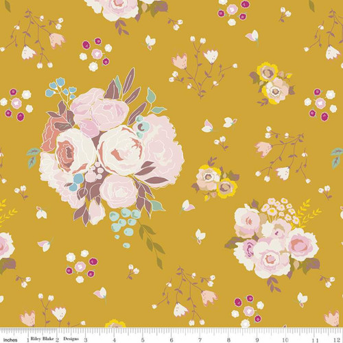 Main Butterscotch - Hidden Cottage - Minki Kim - Riley Blake Fabrics