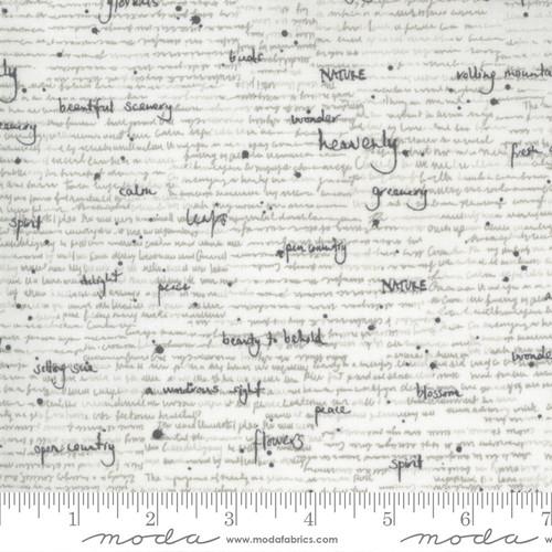 Notes Parchment - Botanicals - Janet Clare - Moda Fabrics