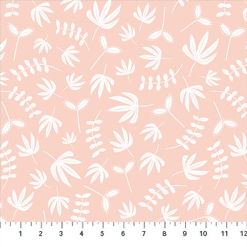 Plants Blush - Handstitched - Karen Lewis - Figo Fabrics