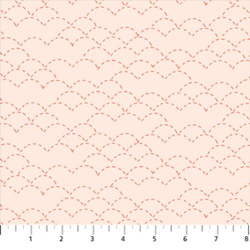 Stitches Cream - Handstitched - Karen Lewis - Figo Fabrics