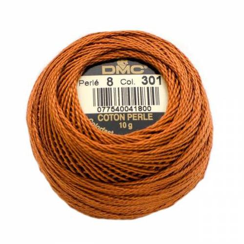 Pearl Cotton Balls - Size 8 - Medium Mahogany - Color 301