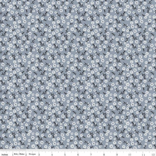 Blossoms Blue  - Gingham Foundry - My Mind's Eye - Riley Blake Fabrics