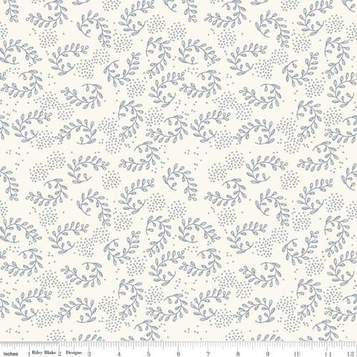 Vines Cream  - Gingham Foundry - My Mind's Eye - Riley Blake Fabrics