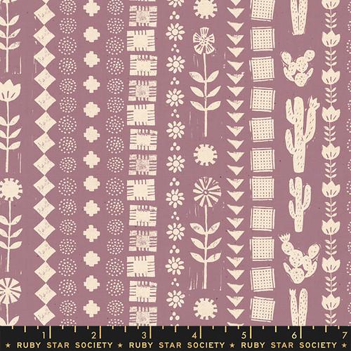 Garden Rows Lilac - Heirloom - Alexia Abegg - Ruby Star Society