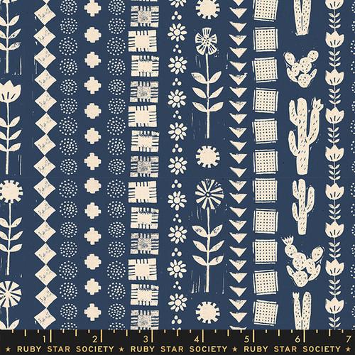Garden Rows Bluebell - Heirloom - Alexia Abegg - Ruby Star Society