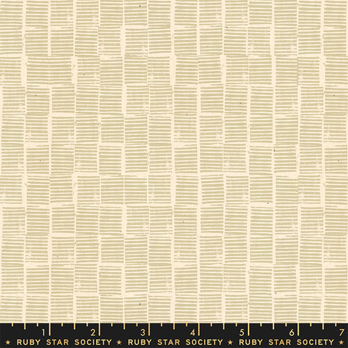 Stripe Stamp Khaki - Heirloom - Alexia Abegg - Ruby Star Society
