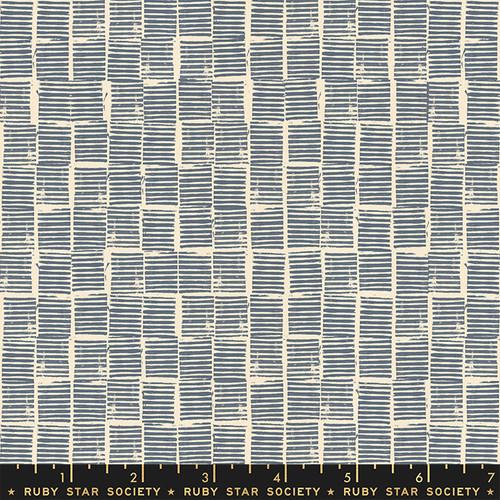 Stripe Stamp Blue Stat - Heirloom - Alexia Abegg - Ruby Star Society