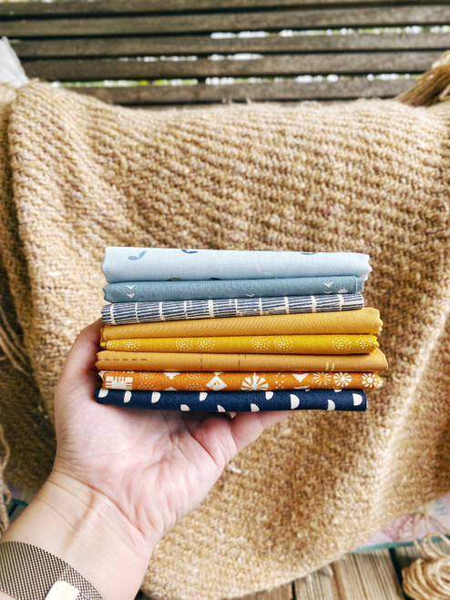 Terra Bundle - 8 pieces - For the Sassy Granny Quilt
