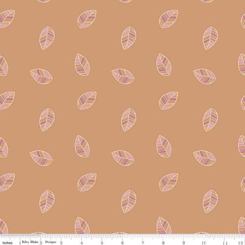 Leaves Orange - Beneath The Western Sky - Gracey Larson - Riley Blake Fabrics