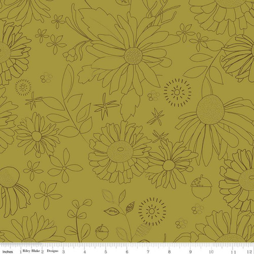 Olive - WIDE BACK - Adel in Autumn - Sandy Gervais - Riley Blake Designs