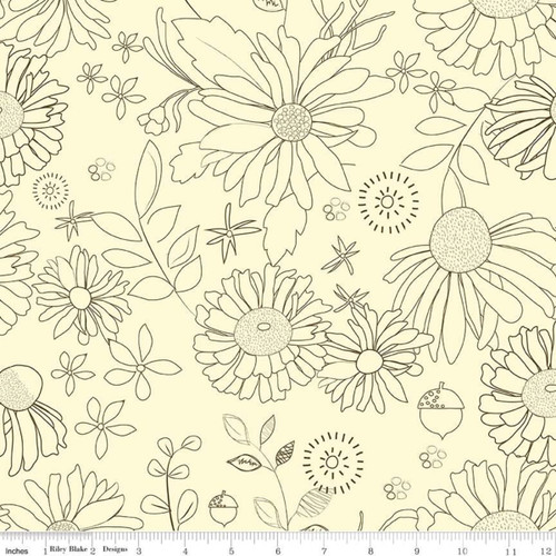 Cream - WIDE BACK - Adel in Autumn - Sandy Gervais - Riley Blake Designs