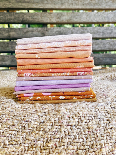 Violet Sky Fat Quarter Bundle - 15 Pieces - Curated Especially for the Little Miss Sawtooth Quilt or Sugar Bear Quilt