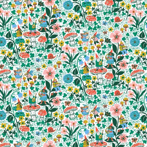 Scenic White Multi - Garden Jubilee - Phoebe Wahl - Figo Fabrics