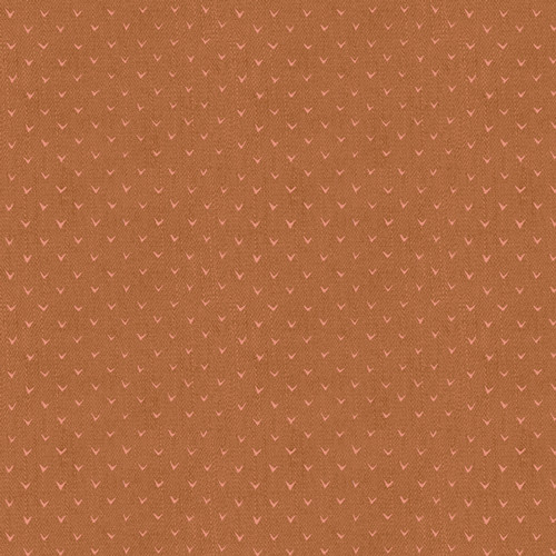 Carved Notches Copper - Twenty - Katarina Roccella - Art Gallery Fabrics