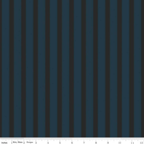 Stripes Teal - Sonnet Dusk - Corri Sheff