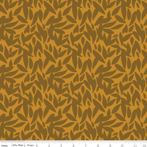 Leaves Butterscotch - Sonnet Dusk - Corri Sheff