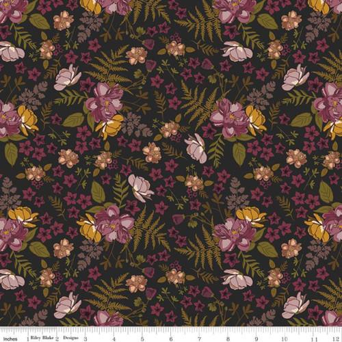 Roses Charcoal - Sonnet Dusk - Corri Sheff