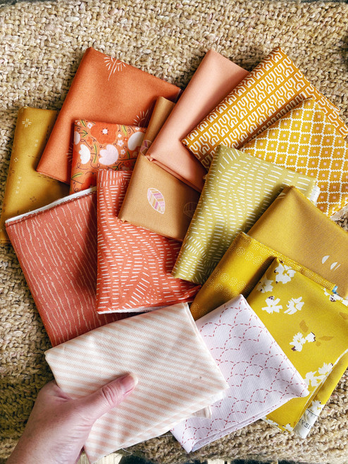 Funshine Bundle  - 15 Pieces - Curated for the Little Miss Sawtooth OR Sugar Bear Quilts