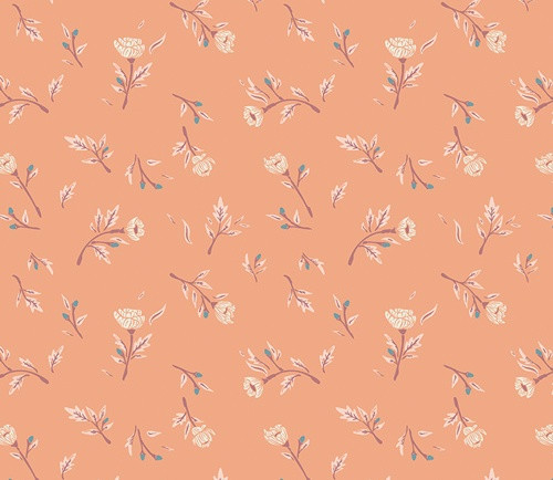 Art Gallery Fabrics - Miss Ditzy's in Peachcobbler - Little Clementine - By AGF Studio