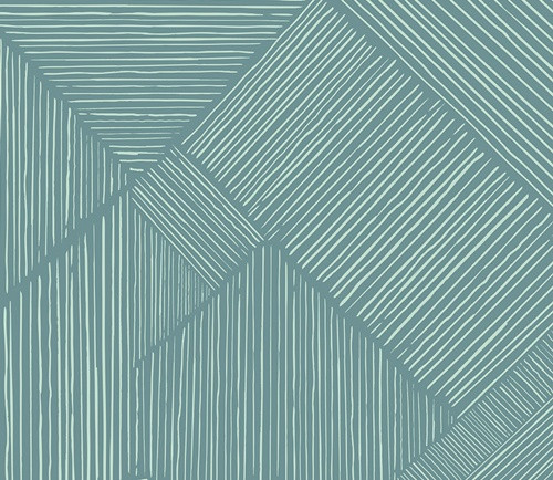 Art Gallery Fabrics - Trouvaille Routes in Ocean - Indie Boheme  Collection - By Pat Bravo