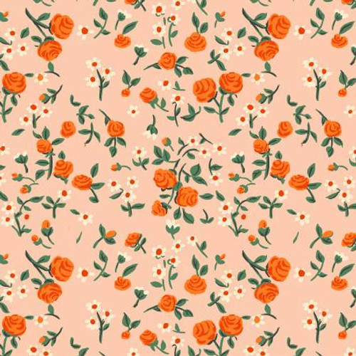 Windham Fabrics - Mousies Floral Peach - Trixie - By Heather Ross