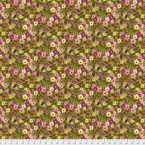 Free Spirit Fabrics - Soma in Avocado - Savernake Road - By Monika Forsberg