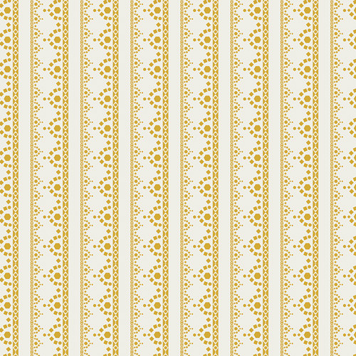 Art Gallery Fabrics - Lace Edgen in Golden - Millie Fleur - By Bari J