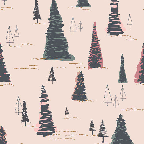 Art Gallery Fabrics - Pinetree - Sparkler Fusion Collection - By AGF Studio