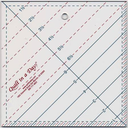 """Quilt in a Day 6.5"""" Triangle Square Up Ruler"""