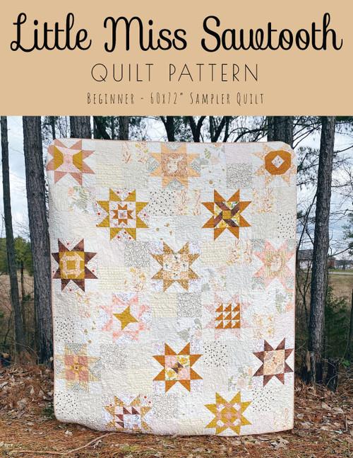 Little Miss Sawtooth Quilt Pattern - Paper Pattern