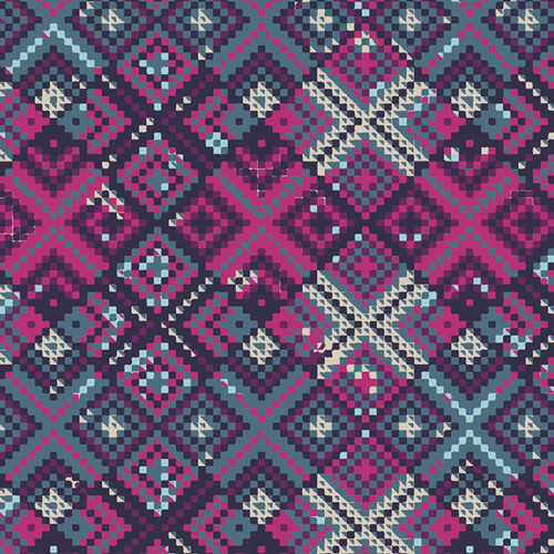 Art Gallery Fabrics -Refractions Violet - Mystical Land - By Maureen Cracknell