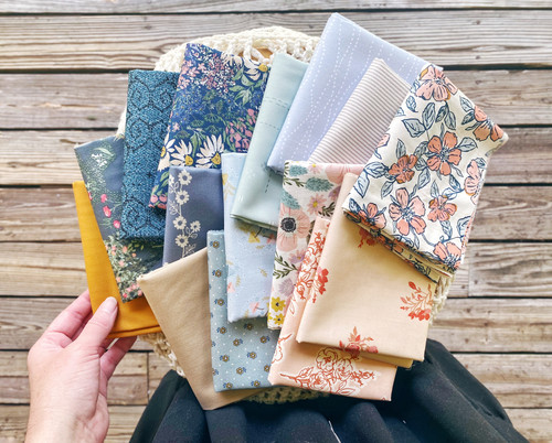 Dreamily Quarter Bundle - 15 Pieces - Curated Especially for the Little Miss Sawtooth Quilt OR the Sugar Bear Quilt