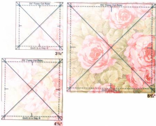 Quilt in a Day - Fussy Cut Ruler - Set of 3