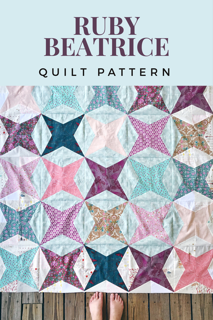Ruby Beatrice Quilt Pattern - Paper Pattern
