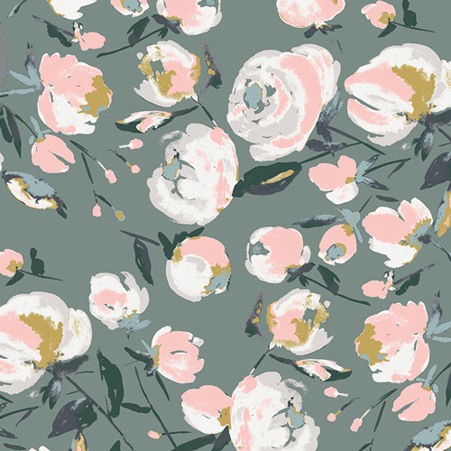Art Gallery Fabrics - Everlasting Blooms - Sparkler Fusion Collection - By AGF Studio