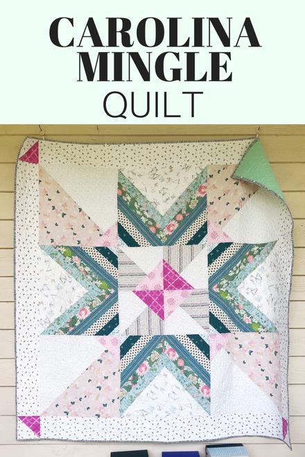 Carolina Mingle Quilt Pattern - Paper Pattern