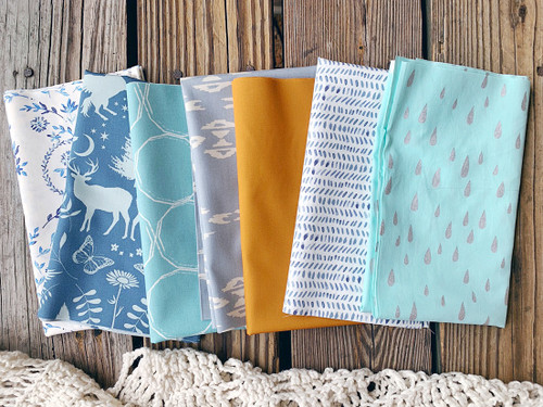 Deep Serene Fat Quarter Bundle - 7 Pieces