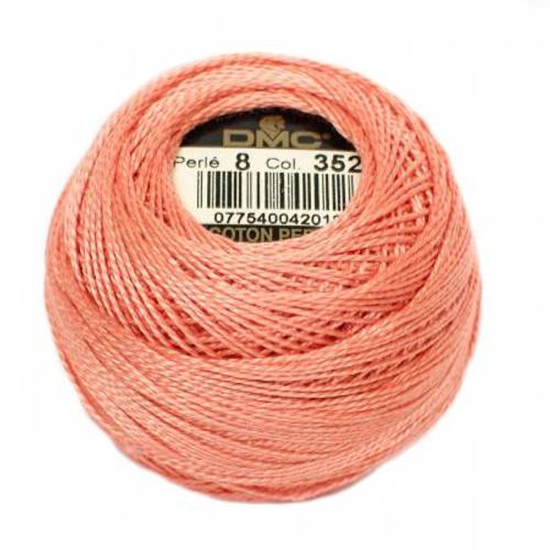 DMC - Pearl Cotton Balls - Size 8 - Light Coral - Color 352