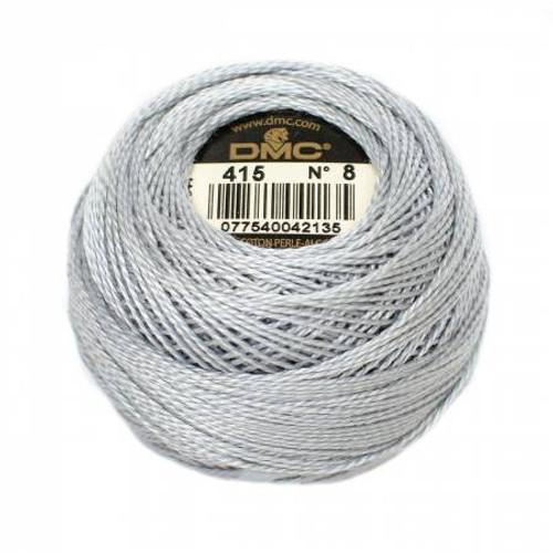 DMC - Pearl Cotton Balls - Size 8 - Pearl Gray - Color 415