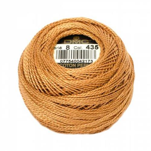 DMC - Pearl Cotton Balls - Size 8 - Very Light Brown - Color 435