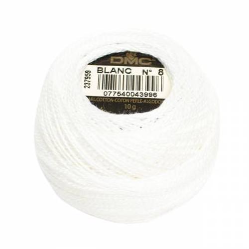 Pearl Cotton Balls - Size 8 - White -