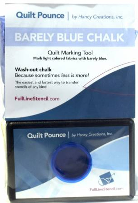 Stencil Chalk Transfer Quilt Pounce Pad Barely Blue