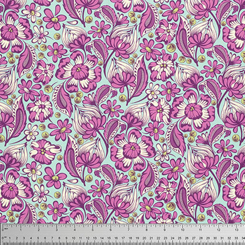 Free Spirit Fabrics - Wild Vines Raspberry - Chipper - By Tula Pink