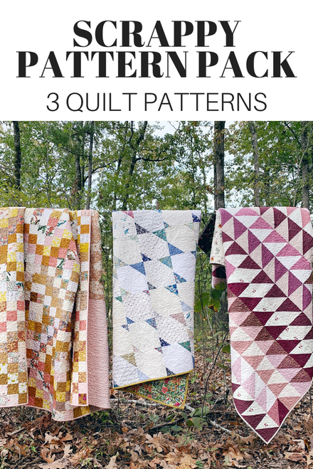 Scrappy Pattern Pack - Trippy, Migration and Tea Time - PDF Pattern
