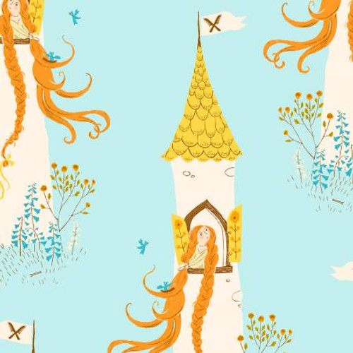 Windham Fabrics - Rapunzel Aqua - Far Far Away 2 - By Heather Ross