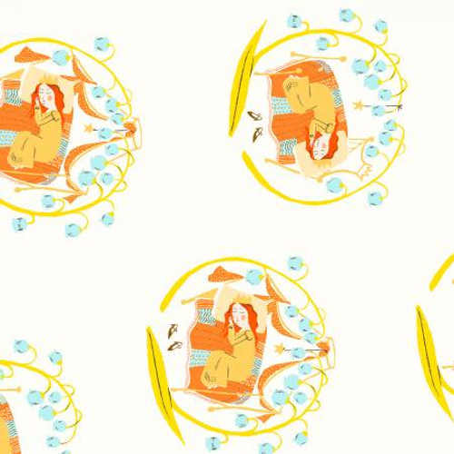 Windham Fabrics - Sleeping Beauty White - Far Far Away 2 - By Heather Ross